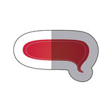 Red chat bubble icon Stock Photo