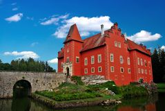 The Red chateau. The red water chateau in the the Czech republic stock image