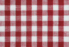 Red check. Background of red and white check tablecloth fabric Stock Images