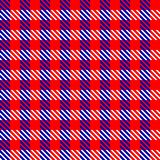 Red check fabric Stock Photography