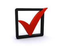 Red Check Mark Royalty Free Stock Photo