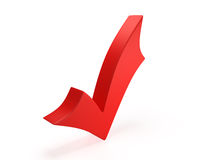 Red check mark Stock Photo