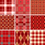 Red check pattern. Seamless red check pattern. Illustration Stock Image