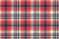 Red check pixel plaid seamless pattern vector illustration