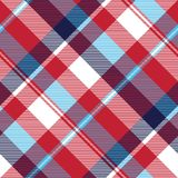 Red check plaid seamless fabric texture Royalty Free Stock Photo