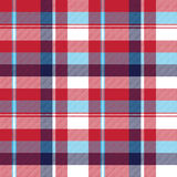 Red check plaid seamless fabric texture Stock Photos