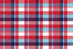 Red check plaid seamless fabric texture Royalty Free Stock Image