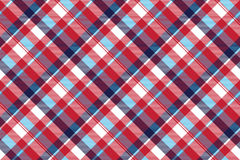 Red check plaid seamless fabric texture Stock Photo