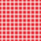 Red Checked Blanket Seamless Pattern Royalty Free Stock Photos