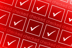 Red checked boxes Stock Photo