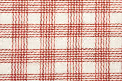 Red checked cotton fabric Stock Photography