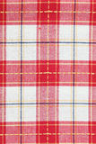 Red checked dish towel pattern. Red checked dish towel background Stock Photo