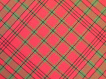 Red checked fabric. Texture suitable as background Royalty Free Stock Photos