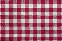 Red checked fabric Royalty Free Stock Image