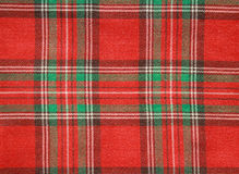 Red checked fabric. Wooven texture Royalty Free Stock Photography