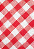 Red checked fabric tablecloth. Blue checked fabric tablecloth texture Royalty Free Stock Photos