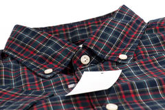 Red checked pattern shirt Stock Images