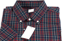 Red checked pattern shirt Royalty Free Stock Image