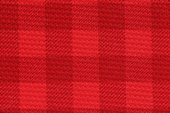 Red checked sport jersey texture background Stock Photo