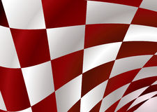 Red checker. Red and white checker flag bellowing in the wind Royalty Free Stock Image