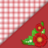 Red checkered background Stock Images
