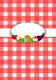 Red checkered blank cooking book Royalty Free Stock Image