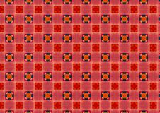 Red Checkered Circles Pattern Stock Photos