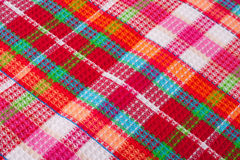 Red checkered cloth Stock Image