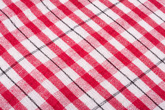 Red checkered cloth. Red checkered table cloth background Royalty Free Stock Photography