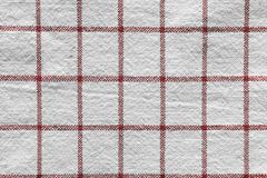 Red checkered cloth Stock Photos