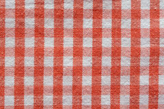 Red checkered fabric Stock Photos