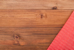 Red checkered cloth Stock Photo