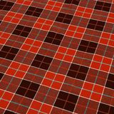Red checkered fabric background stock photos