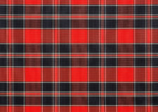 Red, checkered fabric background Stock Image