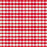 Red checkered fabric tablecloth Stock Photos