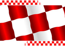 Red checkered flag. With white copy space at top and bottom Stock Image