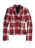 Red checkered jacket Royalty Free Stock Images