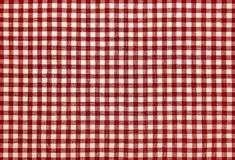 Red checkered napkin. Red kitchen checkered napkin. Well seen pattern Royalty Free Stock Images