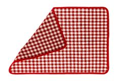 Red checkered napkin. Red kitchen checkered napkin. Well seen pattern Royalty Free Stock Image
