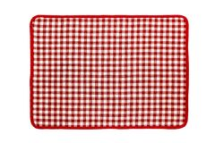 Red checkered napkin. Red kitchen checkered napkin. Well seen pattern Stock Images