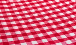Red checkered napkin. Red checkered kitchen napkin. Well seen pattern Stock Photography
