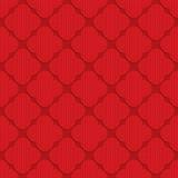 Red checkered rounded four foils Royalty Free Stock Images