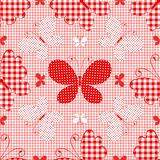 Red checkered seamless pattern Royalty Free Stock Photo