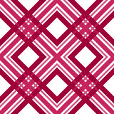 Red checkered seamless pattern repeat Stock Photos