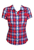 Red checkered shirt. Isolated on white background Royalty Free Stock Photography