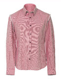 Red checkered shirt. Red shirt  isolated on white Royalty Free Stock Photo
