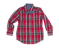 Red checkered shirt, isolate Stock Photography