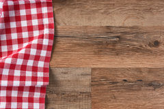 Red Checkered Table Cloth Royalty Free Stock Image
