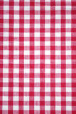 Red checkered tablecloth. Red and white tablecloth italian style texture wallpaper Stock Photo