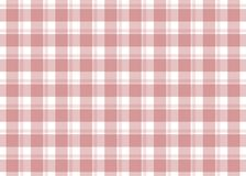 Red checkered tablecloth. Red gingham seamless pattern. Texture from squares for plaid, tablecloths and other textile products. Vector illustration Stock Photo